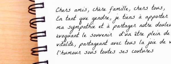 Rédaction Dun Texte Dadieu Organisation Obsèques